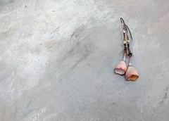 a shoreline spindle' earrings by greybirdstudio (greybirdstudio) Tags: uk beach nature silver painting ceramic scotland necklace pod artist blossom linen craft jewellery textile clay shore bead wax organic etsy isle porcelain artisan hemp adornment beachcomber gilderspaste greybirdstudio skye