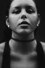 Dark Days (TheJennire) Tags: camera light portrait people blackandwhite luz wet girl face look fashion self canon dark hair cores photography photo eyes colours foto young style olhos colores teen ojos indie fotografia camara cabelo choker pelo cabello tumblr