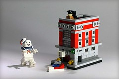 Ghostbusters HQ (Frost Bricks) Tags: scale lego micro hq ghostbusters micropolis