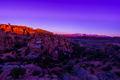 Sunset over the Fiery Furnace (MikeRicciPhoto) Tags: park sunset canon landscape utah sony arches national moab furnace a7 fiery 1740mml mikericciphoto