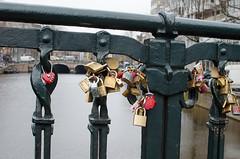 Love Locks (G Reeves) Tags: city water netherlands amsterdam architecture buildings outside nikon canals locks padlocks nikond5100