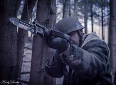 Don't point that at me-3 (Andy Darby) Tags: helmet german medic sani arley paratrooper k98 fallschirmjager fjr5