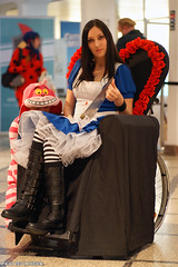 American McGee's Alice (Red Cathedral is alive) Tags: cat alice sony wheelchair bruxelles american alpha mcgees bozar bifff a850 sonyalpha chessire brusselsinternationalfestivaloffantasticfilm