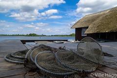 Kalastus (villeah) Tags: lake net clouds germany de landscape pier boat mecklenburgvorpommern zarrentin zarrentinamschaalsee