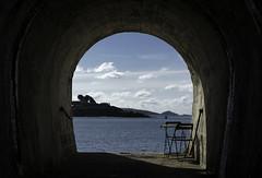 Drake's Island (Lloyd Hunt) Tags: blue sea summer sky water island coast nikon plymouth sunny tunnel devon drake sirfrancisdrake drakesisland plymouthsound d7100