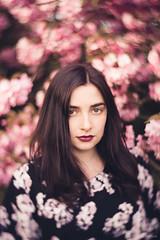 Manon (Anas Nannini) Tags: light portrait flower spring lomography emotion bokeh expression cherryblossom exterieur nikond810 anasnannini petzval58