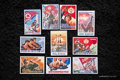North Korean Propaganda Postcards (reubenteo) Tags: propaganda korea stamp collection communism postcards collectables socialism northkorea dprk lapelpins