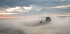 Corfe in the mist (289RAW) Tags: mist castle fog clouds sunrise canon little filter lee dorset april corfe stopper 6d purbecks 2016 289raw