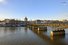 Pont des Arts (A. Wee) Tags: bridge paris france seine sunrise river europe  pontdesarts