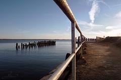 Sandweg (Thomas Heuck) Tags: sea water coast sand wasser sonnenuntergang ludwigsburg greifswald bodden gelnder