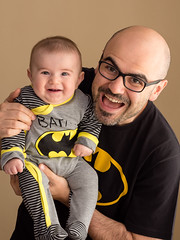 Baba ve Olul Batman'lar (Gven Gl) Tags: portrait people baby child father son batman fatherandson babyboy portre childphotography gh3 sigma60mm panasonicgh3