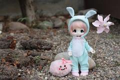 Kigurumi Bunny ^^ (cachoou) Tags: bunny handmade juice mint kiki couture kinoko kigurumi kinokojuice