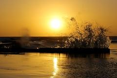 Wave at sunset (52picchio) Tags: primavera canon tramonto mare campania explore aprile molo cilento 2016 castellabate explored azzurromare canoneos60d fluidr flickrnova flickrclickx fluidrexplored