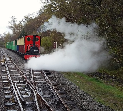 Moving off-Steam train Elidir.