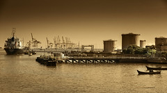Do not grow weary... ~ Galatians 6:9 (J316) Tags: port dawn raw industrial sony gas oil penang tanker goldenhour a77 oiltanker butterworth j316 butterworthport