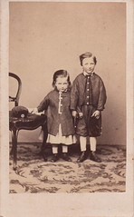 Percival H. W. Parsons, aged 5 years & 4 months, and F. Herbert W. Parsons, aged 2 years & 8 months (1867) (pellethepoet) Tags: portrait boys children chair brothers australia siblings photograph tasmania cdv cartedevisite hobart bertie percy fherbertwparsons percivalparsons herbertparsons percivalhwparsons phwparsons percivalhowardwhiteparsons fredericherbertwhiteparsons fhwparsons