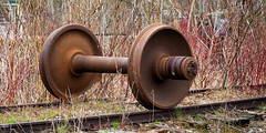 All truck no train (hz536n/George Thomas) Tags: railroad copyright train canon rust michigan may rusty canon5d nik rusting upnorth dm 2016 ioscocounty cs5 ef100mmf28lmacroisusm