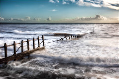Smashed Again- (nalamanpics) Tags: seascape broken canon waves dramatic smashed drama groynes groins