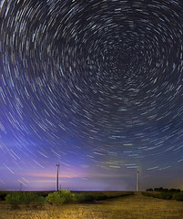 Emu Downs Wind Farm Star Trails Panorama (inefekt69) Tags: longexposure nightphotography panorama night rural 35mm stars nikon wind farm space australia stack explore southern galaxy astrophotography perth astronomy stacking dslr cosmos westernaustralia stacked startrails cosmology southernhemisphere ptgui explored startracks starcircles emudowns emudownswindfarm startrailsexe startracing d5100