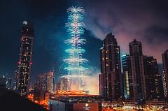 Burj Khalifa New Years fireworks (Surendra Rajawat) Tags: city building skyline architecture night skyscraper buildings lights dubai fireworks nye uae middleeast happynewyear tallest celecration nye2016 newyear2016