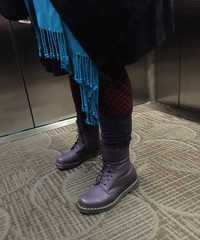 Dr Martens Purple Pascal 8 eye boots (cobaltgrl) Tags: shoes purple boots pascal drmartens