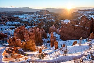 Thor's Hammer Sunrise!  Bryce Canyon Snow! Nikon D810 Fine Art Landscapes Bryce Canyon Utah Winter Snowstorm: Elliot McGucken Fine Art Landscape Photography