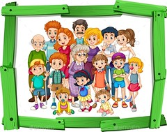 Family Members (People) (hypesol) Tags: old family boy people woman baby man girl kids children kid infant child adult grandmother uncle father cartoon daughter grandfather mother picture son aunt photograph elderly frame characters grownup woodenframe