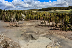 Mud Volcano (http://fineartamerica.com/profiles/robert-bales.ht) Tags: park hot texture tourism nature fountain pool landscape volcano flickr mud natural earth fineart scenic places steam gas dirt national caldera heat mineral yellowstonenationalpark boardwalk environment yellowstone states wyoming volcanoes geology sulfur eruptions liquid geothermal muddy eruption bubbling phenomenon exploding hydrothermal geological geologic supervolcano thermophiles mudpot volcanism imagekind mudgeyser superheated yellowstonecaldera photouploads robertbales mudpoolorpots