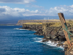Ka Lae (melastmohican) Tags: ocean travel blue sea summer sky cloud sunlight color tourism nature water beautiful point landscape outdoors island hawaii big fishing day pacific wind south scene spot cliffs southern most coastline ka lae