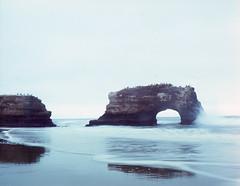 Natural bridge (-Alberto_) Tags: santacruz seascape mediumformat 120film naturalbridge format pentax6x7 7x6 wildcalifornia