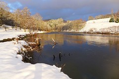 Moselle river (denismartin) Tags: winter snow france reflection water iceage river canal reflet lorraine moraine vosges moselle glaciation moselleriver remiremont saintnabord denismartin eloyes noirgueux