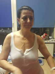 sexy mom (Tina-mom of two) Tags: woman hot sexy mom nipples wife seethrough braless sexywife sexymom