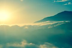 Sunset time with cloud . In Taiwan Nantou .   DSC_0242 (Ming - chun ( very busy )) Tags: travel sunset sky cloud tree misty fog nikon farm taiwan 85mm   nikkor f18     d800 chingjing nantou   85mmf18   f1885mm nikon85mmf18  nikon85mm18 14