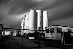 Silo - B&W (Number Johnny 5) Tags: bw white black monochrome clouds nikon long exposure industrial noir great norfolk silo east filter d750 yarmouth tamron advantix anglia tiffen 2470mm ircut
