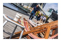 8/100_What's Brewing_A brew with a view! (red stilletto) Tags: city coffee cafe chair view chairs coffeecup melbourne theyarra whatsbrewing southwharf theboatbuildersyard image8100 100xthe2016edition 100x2016