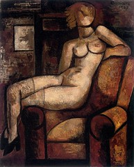 Le modle blonde, 1927 // by Marcel Gromaire (1892-1971) (mike catalonian) Tags: 1920s france female painting fulllength 1927 xxcentury potrtait marcelgromaire