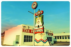 S3 P 1355 Tucumcari NM (calitochicago) Tags: tucumcarinm route66nm route66tucumcari teepeecurios giftshop touristshop teepee wigwam nativeamerican roadsideattraction trinkets souvenirs