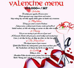 Menu Valention 2016 (softwater.restaurant) Tags: restaurant valentine softwater nhahang romanticdinner lễtìnhnhân letinhnhan