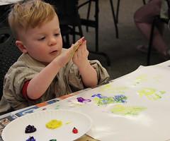 Georgetown Craft Adventures - Finger Painting (ACPL) Tags: georgetown geo fingerpainting fortwaynein acpl allencountypubliclibrary craftadventures