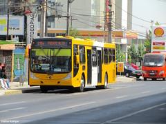 Primer recorrido reasignado (Esteban Radrigan) Tags: chile santiago bus mercedes benz san h stop joaquin caio mondego transantiago subes o500u 213e biportal