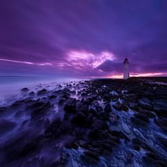 Mercury (Rodney Campbell) Tags: longexposure lighthouse clouds sunrise au australia victoria cpl portfairy