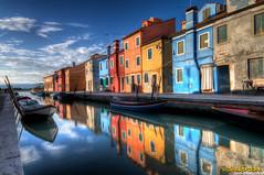 Burano Island (Italy) (Dclicks & Dclacks) Tags: italy reflection colors canon couleurs tokina reflet 7d murano italie muranoisland 1116mm