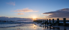 The Rising Sun..Aberdeen Beach (LoneWolfA7ii) Tags: blue light sky sun art beach water clouds sunrise landscape coast scotland seaside sand colours outdoor sony aberdeen shore groyne a7ii