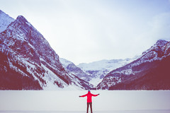 .you will never know until you go. (snap.the.moment) Tags: canada mountains landscape rockies sony 28mm alberta lakelouise frozenlake banffnationalpark f20 travelphotography a7ii travellight