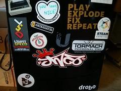 JNCO fridge (RobotSkirts) Tags: fridge sticker jnco twobit twobitcircus