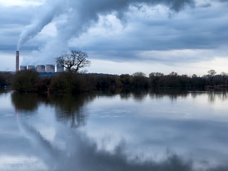Ratcliffe-on-Soar Power Station across Attenborough Nature Reserve (Explored)
