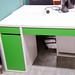 White and green desk