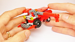 How to Build Lego Technic Combine Harvester (MOC) (hajdekr) Tags: way steering lego small wheels creation help technic tip combine howto micro tips instructions guide easy manual agriculture tutorial harvester tuto moc agro microspace combineharvester assemblyinstructions legotechnic myowncreation microscale buildingguide scythebar