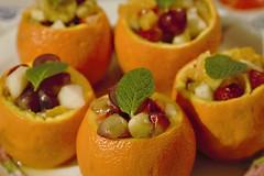 La macedonia  servita!! (Luana_58) Tags: macedonia uva arancione arancia menta fragole