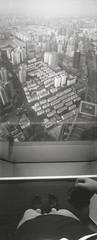 View from Shanghai World Financial Center (Zachary Hayes) Tags: china panorama film analog 35mm shanghai kodak horizon 400tx 202 bottleopener swfc